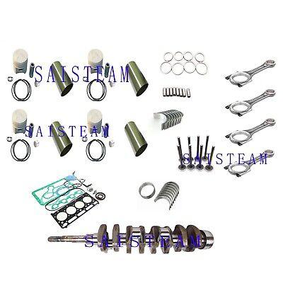 Kubota V2203 V2203E IDI Engine Rebuild Kit &4 Connecting Rods&Crankshaft