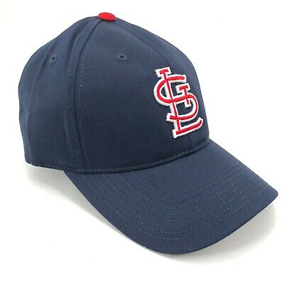 St. Louis Cardinals Outdoor Cap Adjustable Hat Curved Brim Blue Red White Logo Brim Logo Adjustable Hat