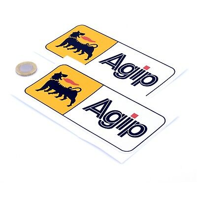 Agip Oil Stickers Classic Car Motorcycle Racing Sticker Vinyl Decals 150mm x2