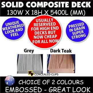 COMPOSITE DECK - solid - 5400x130x18mm *Like modwood DECK*