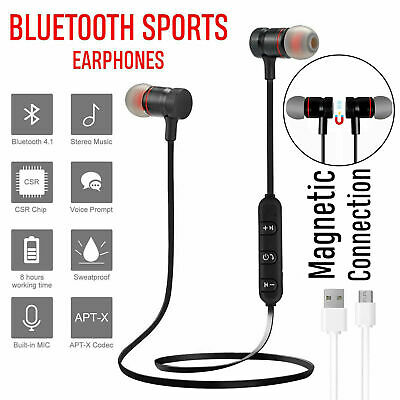 Sports In-Ear Bluetooth 4.2 Wireless Earphones Stereo Headphones Headsets Mic