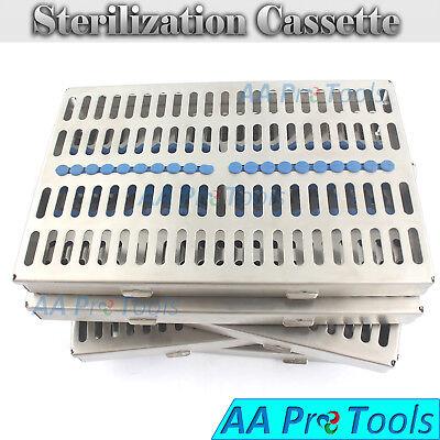 5 Sterilization Cassette Rack Tray Hold 20 Dental Surgical Instrument Autoclave