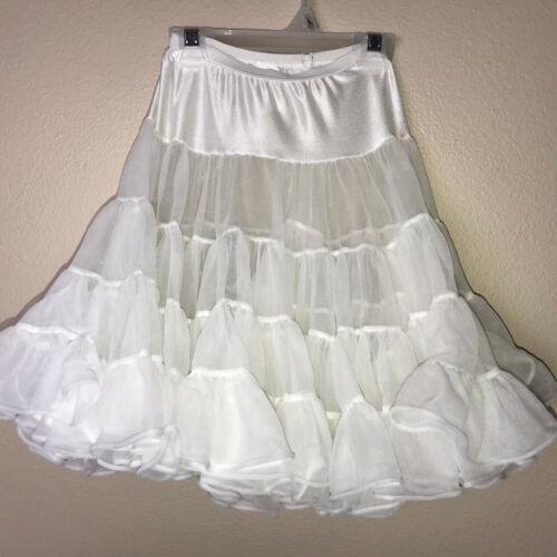 Vintage White Nylon Ruffle Skirt 1/2 Slip Toddler Girls 3T J.C. Collections FLAW
