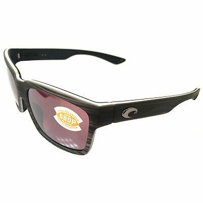 NEW Costa Del Mar Playa Sunglasses - Matte Silver Teak POLARIZED Mirror (Costa Playa Sunglasses)