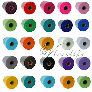 TULLE-Roll-Spool-6-x100yd-Tutu-Wedding-Gift-Craft-Party-Bow-6-x300Colours-Pick