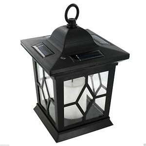 Garden Solar Powered Led Candle Table Lantern Hanging