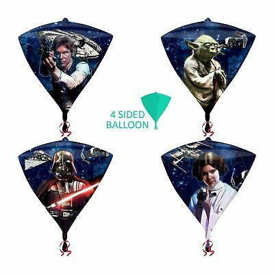 Star Wars Shaped Balloon - Star Wars Foil Diamond Shaped Helium Balloon Han Solo Yoda Vader Leia Decoration