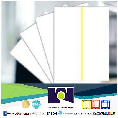 Sublimation Transfer Paper For Whitecotton Yellow Line - 8.5x11 10 Sheets Pk