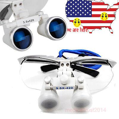 Usa Sale 3.5x420mm Dental Surgical Medical Binocular Loupes Optical Glass Loupe