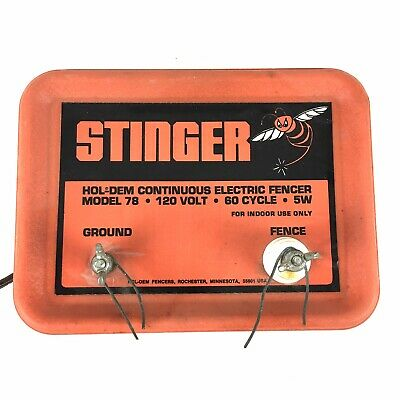 Stinger Hol-dem Continuous Electric Fencer Model 78 120v 60 Cycle 5w