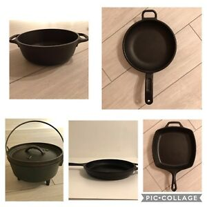 5 lodge cast iron cookware