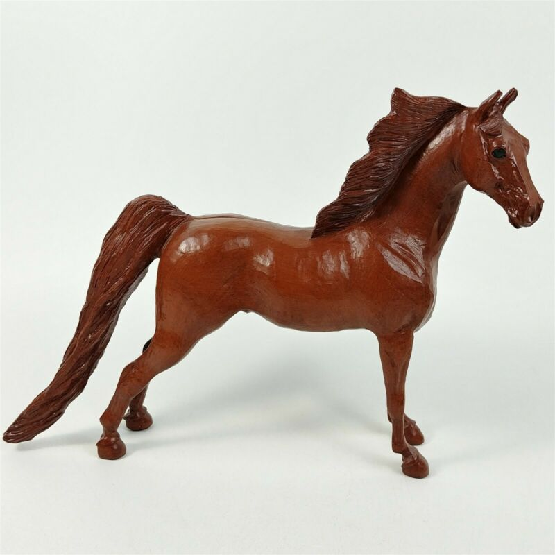 """Handcrafted Red Mill Brown Horse Figurine Decorative Collectible 9.5"""" Tall"""