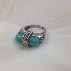 Turquoise/silver rings