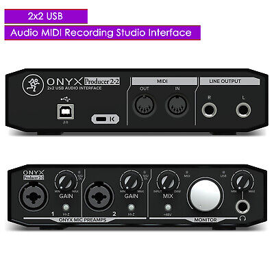 New Mackie Onyx Producer 2.2 2x2 USB Audio MIDI Recording Studio Interface Mackie Onyx Recording