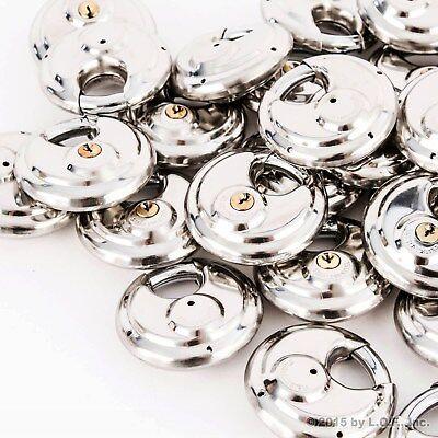 60 Armor Disc Padlock Trailer Brass Cylinder Storage Locks Stainless Keyed Same