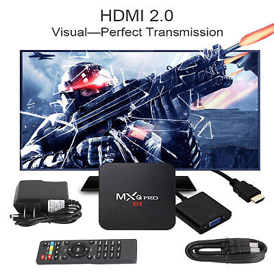 2020 Smart TV Box MXQ Pro 4K UHD 2.4GHz Wifi Android 7.1 Quad Core 3D Player T2