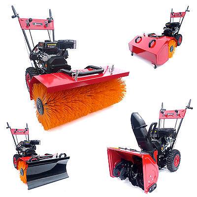 Kehrmaschine Benzin Schneefräse KW250SE Elektrostarter 6,5PS Schneeräumer NEU