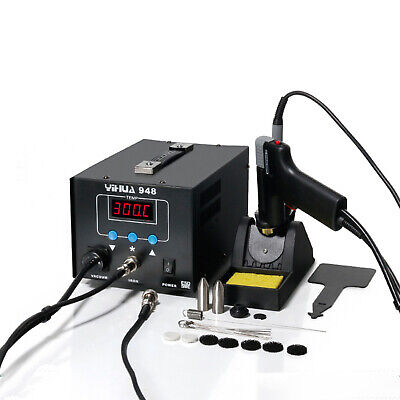 2 In 1 Soldering Iron Desoldering Station Vacuum Pump Gun Yh-948 Esd Safe 80w