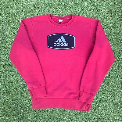 Mens Vintage Spellout Adidas Sweatshirt Small Excellent Condition Pink