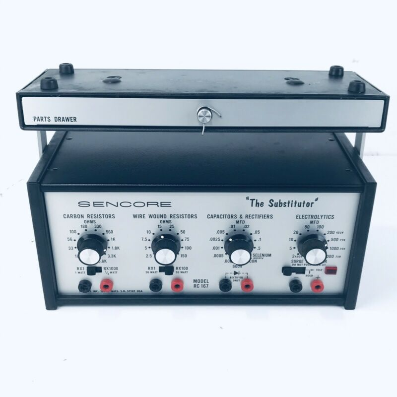 "Sencore Model RC 167 ""The Substitutor"" Decade Resistance and Capacitance Box"