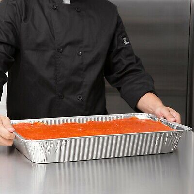 50 Pack - Full Size Aluminum Foil Cooking Baking Storing Deep Steam Table Pan