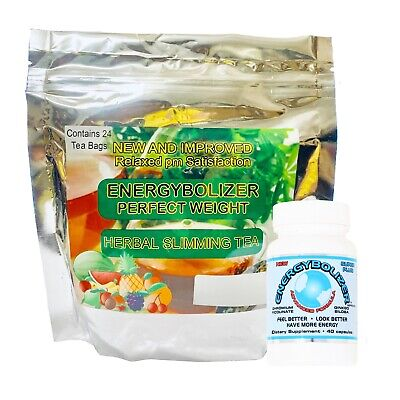 Energybolizer Perfect Weight Herbal Slimming Tea (24 Bags) + Advanced Formula