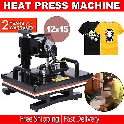 15x12 Swing Away Digital Heat Press T-shirt Transfer Sublimation Machine
