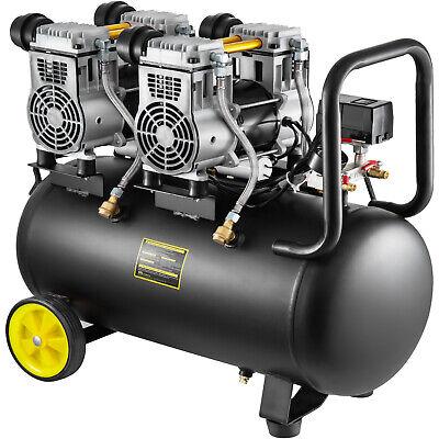 Compresor de Aire sin Aceite 1960W 50 Litros 250 l/min Portátil Silencioso