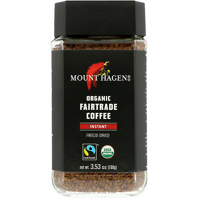 Mount Hagen  Organic Fairtrade Coffee  Instant  3 53 oz  100 g