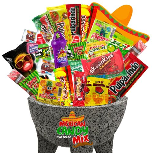 Mexican Candy Mix (40 Count) Variety Of SPICY and Sour Bulk Dulce Mexicano