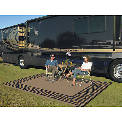Indoor Outdoor Patio Mat RV 9'x12' Reversible Camping Picnic Carpet Deck Rug Pad ()