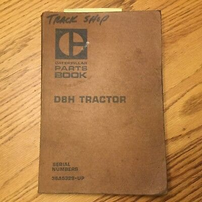 Cat Caterpillar D8 D8h Parts Manual Book Catalog Tractor Bulldozer 36a5329 Up