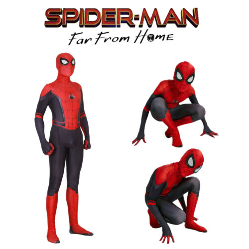 Spider Man Far From Home Peter Parker Spiderman Jumpsuits Cosplay Costume Tights