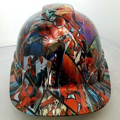 Hard Hat Custom Hydro Dipped Osha Approved Spiderman Comic Book Style