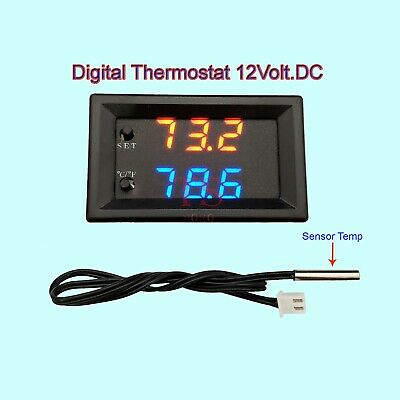 Digital LED Microcomputer Thermostat Controller Switch Temperature Sensor 12v Temperature Control Switch