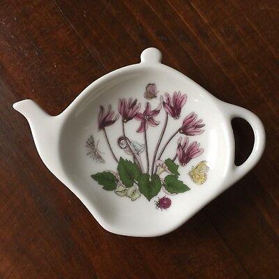 Portmeirion Botanic Garden Cyclamen Teapot Shaped Spoonrest Williams-Ellis