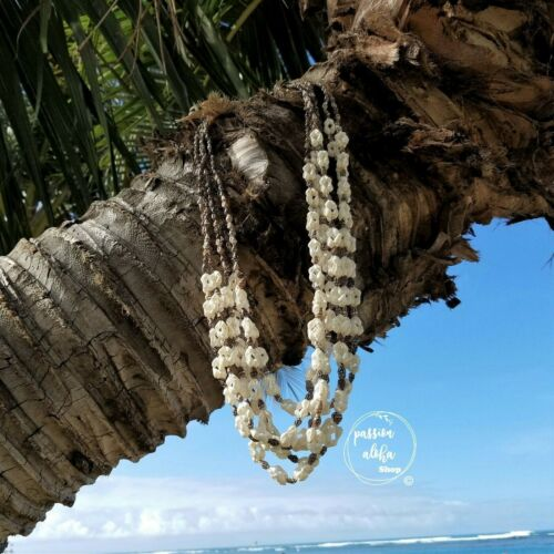 Hawaiian Lei Necklace Sea shell Lei Jewelry Necklace Vintage Long Lot of 6