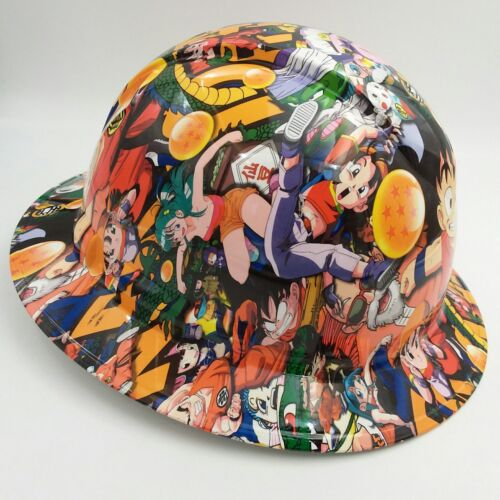 FULL BRIM Hard Hat custom hydro dipped , NEW DRAGON BALL Z HOT NEW PYRAMEX 2