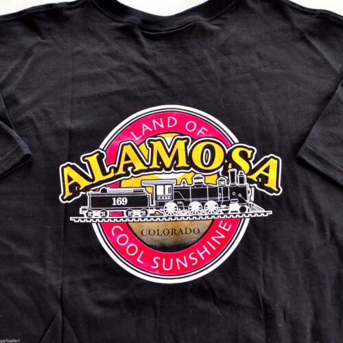 Alamosa Denver Rio Grande Train CO T-Shirt XL Friends Steam Locomotive Railroad
