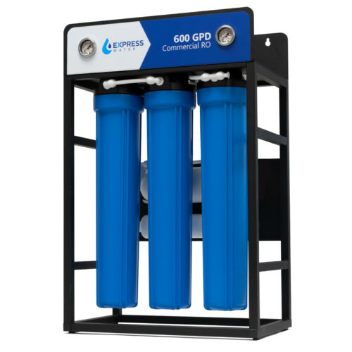 600 GPD Commercial Reverse Osmosis Water Filtration System 5 Stage High Capacity