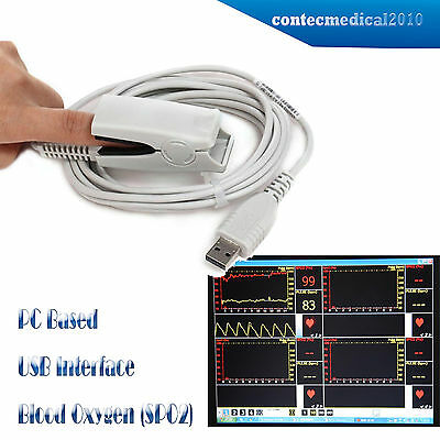 Spo2 Probe Pc Based Usb Port Oximeteroxymeter Pc Softwarewinadult Contec
