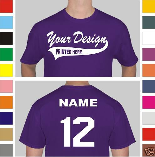 12 Custom Screen Printed Baseball Team T-Shirts Jerseys