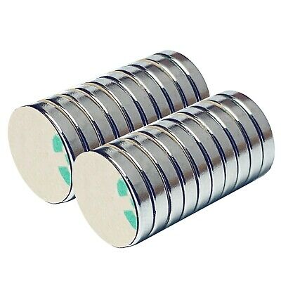 Neodymium Rare Earth Disc Craft Magnets 12 X 116 Inch N48 3m Adhesive 30 Pack