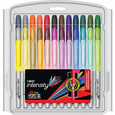 Bic Intensity Permanent Marker Colors Fine Point 36-ct Packaging May Vary