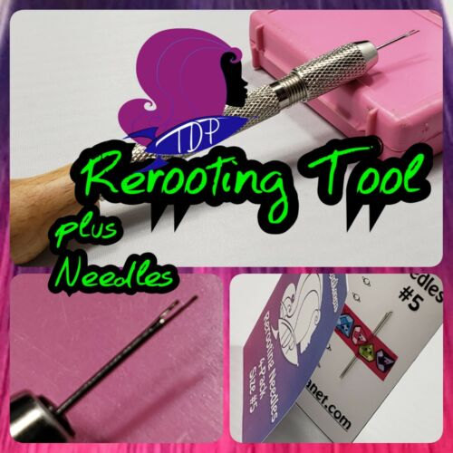 Doll Hair Rerooting Tool & Needles Basic Starter Kit for Rerooting Doll Hair