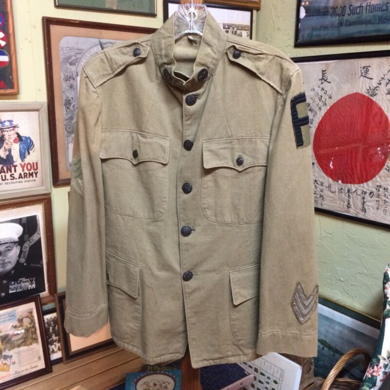 Wwi Army Air Service Uniform Top Great Shape With Patches