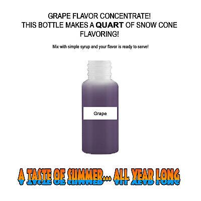 Grape Mix Snow Coneshaved Ice Flavor Quart 1 Concession Supplies