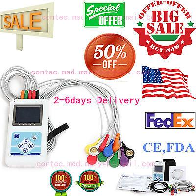12 Channel Ecg Holter Ecgekg 24 Hours Holter Ekg Monitor Tlc5000software