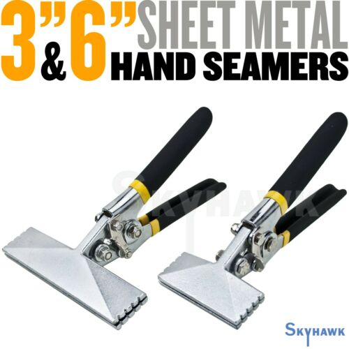 "Sheet Metal Hand Seamers  3"" and 6"" Straight Handle Jaw Manual Metal Bender Tool"