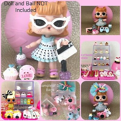 LOL Surprise CUSTOM 6 PC STARBUCKS Camera SWEETS Random ACCESSORIES Lot NO DOLLS